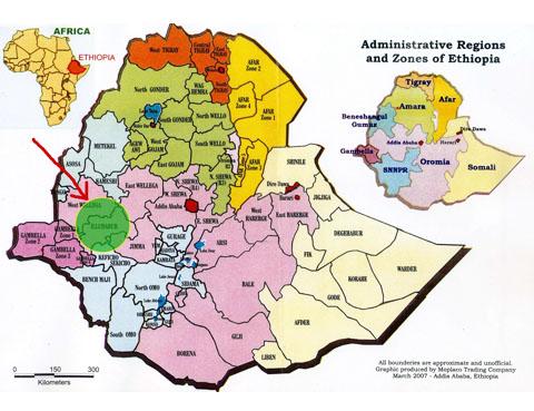 エチオピア マップ
